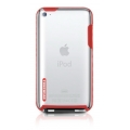 Tunewear Tuneshell Rubber Frame Red for iPod Touch 4G (IT4-TUN-SHELL-RF04)